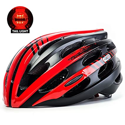 Casco para bicicleta, bicicleta de King Super luz casco de ciclismo con luz trasera LED de seguridad, 27 Vents, Latch cierre Control, ajuste ajustable ...