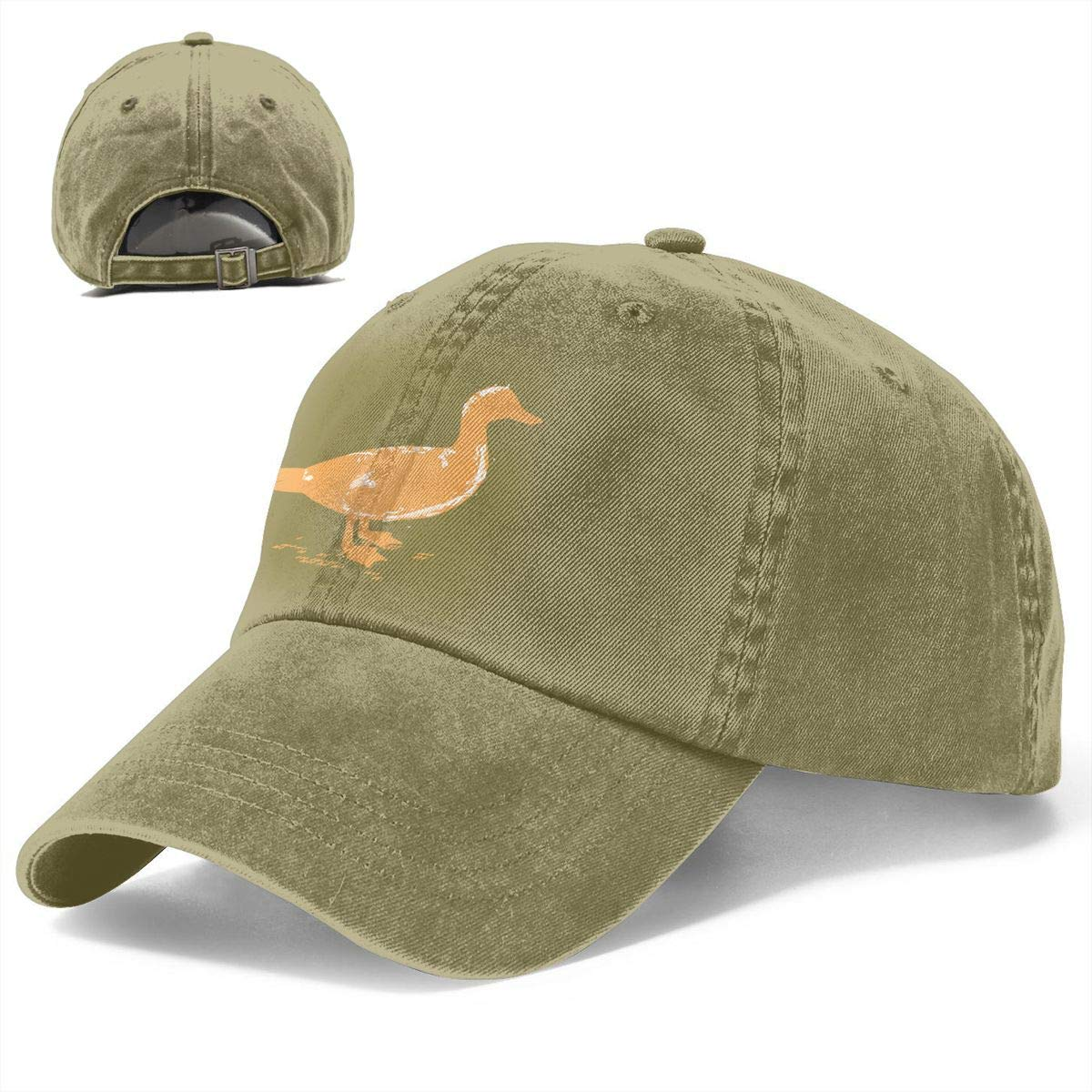 JTRVW Red Lion Head Denim Hat Adjustable Womens Classic Baseball Caps