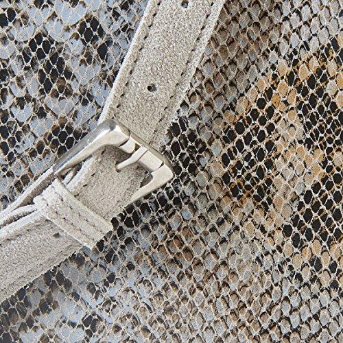 La Redoute Collections Frau Ledertasche In Reptiloptik Python Grau