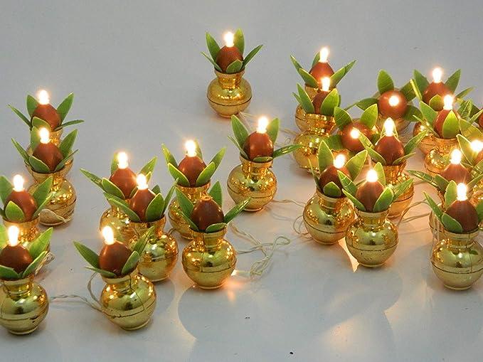 Buy Electric Golden Kalash Diya Deepak Tealight Rice Light