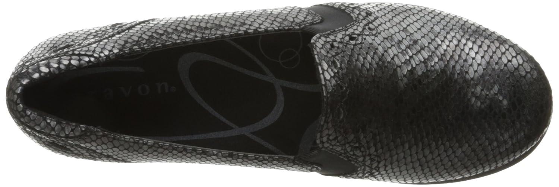 Aravon Women's Adalyn-AR Flat B01AOUR29C 8.5 B(M) US|Grey Reptile Print