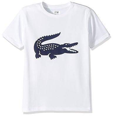 472fd538 Lacoste Little Boy Sport Croc Graphic T-Shirt, White/Navy Blue, 2