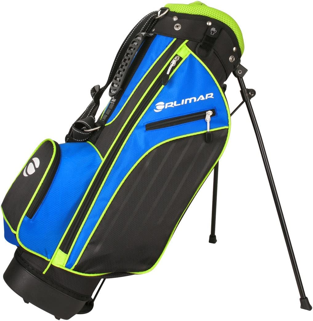 Orlimar Golf ATS Junior Boy's Blue/Lime Golf Stand Bag (Ages 5-8) : Sports & Outdoors