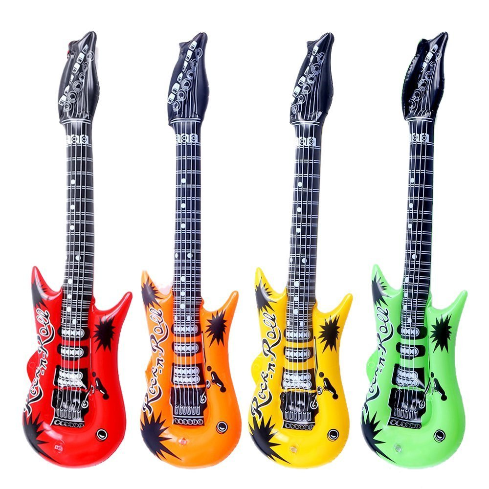 DECORA 35.4 Inflatable Guitars Party Supplies Inflatable Toys Musical Toys Pack of 4
