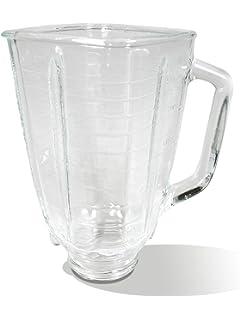 Oster 5-cup cuadrado superior de vidrio jarra de batidora ...