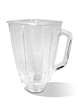 Oster 004954-011090-I - Jarra de vidrio cuadrada 5 tazas (1.25 l) con tapa cuadrada, color negro y tapón de llenado: Amazon.es: Hogar