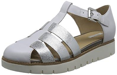 02211183e5733f Geox Damen D Darline D Geschlossene Sandalen mit Keilabsatz  Amazon ...