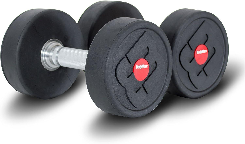 Pair Bodymax 25Kg Pro v4 Rubber Dumbbells