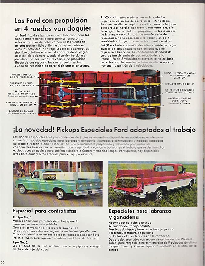 1969 Ford Pickup F-100 250 350 4WD Spanish-language brochure at Amazons Entertainment Collectibles Store