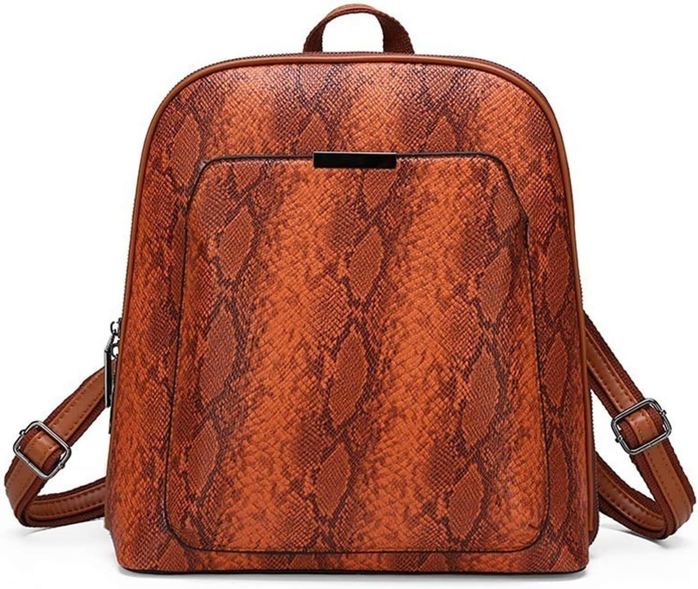 Vintage Women Backpack Serpentine Leopard School Bags for Teenage Girls Shoulder Bag Female Leather Backpacks Mochilas Mujer,Gray,32x29x12.5cm