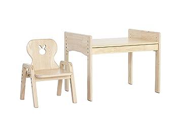 Mesas illa mitwachs Extremo Lätt, niños mesa + silla, diseño: Conejo, 100% madera maciza: Amazon.es: Bebé