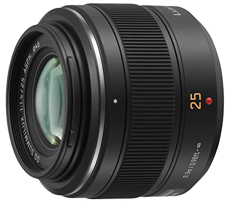 Panasonic Lumix H-X025 G Micro 4/3 Leica DG Summilux 25mm/F1.4 Lens (Black) DSLR Camera Lenses at amazon