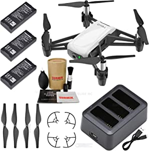 Tello Drone Quadcopter Boost Combo with 3 Batteries, Charging Hub, and Surmik Drone Care Kit