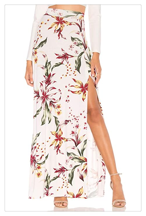 G&R GR - Falda Larga para Mujer, diseño de Flores, Apertura ...