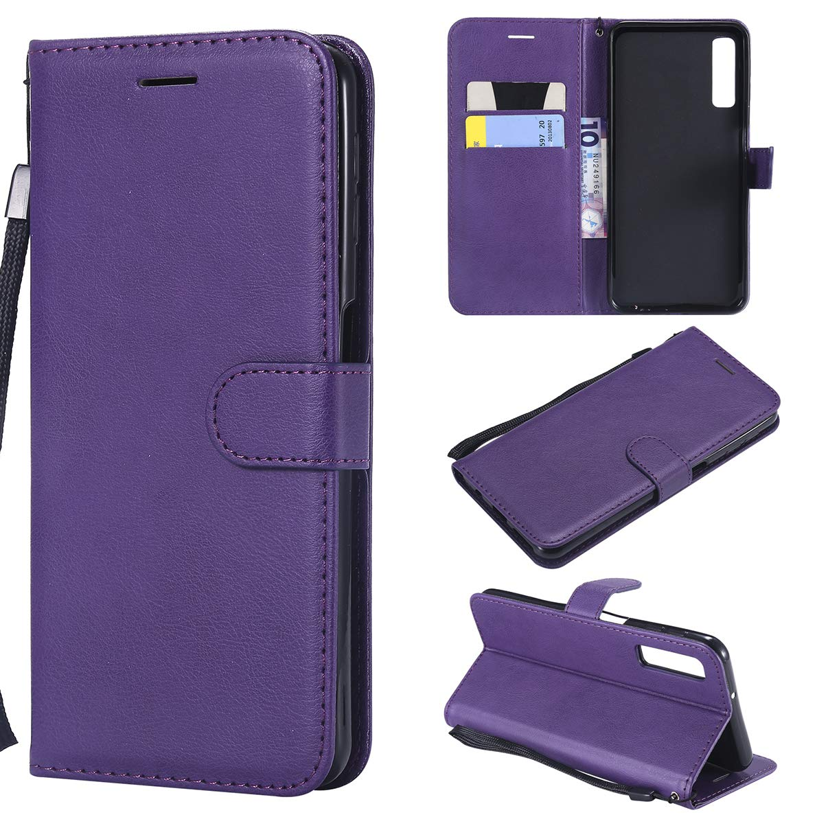 Samsung Galaxy A7 2018 Case, SHUYIT Solid Color Luxury PU Leather Case Book Case Flip Wallet Case Cover for Samsung Galaxy A7 2018 A750 Shell with Card Slots Stand Magnetic Closure