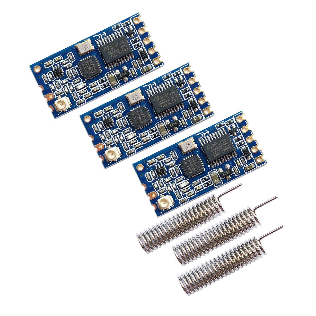 Alwayshare HC-12 433Mhz SI4463 Wireless Serial Port Module 1000m Replace Bluetooth with Antenna (Blue) by Sunhokey