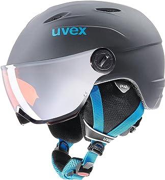 Casco de esquí para niños Junior Visor Pro de Uvex, con visera, invierno,