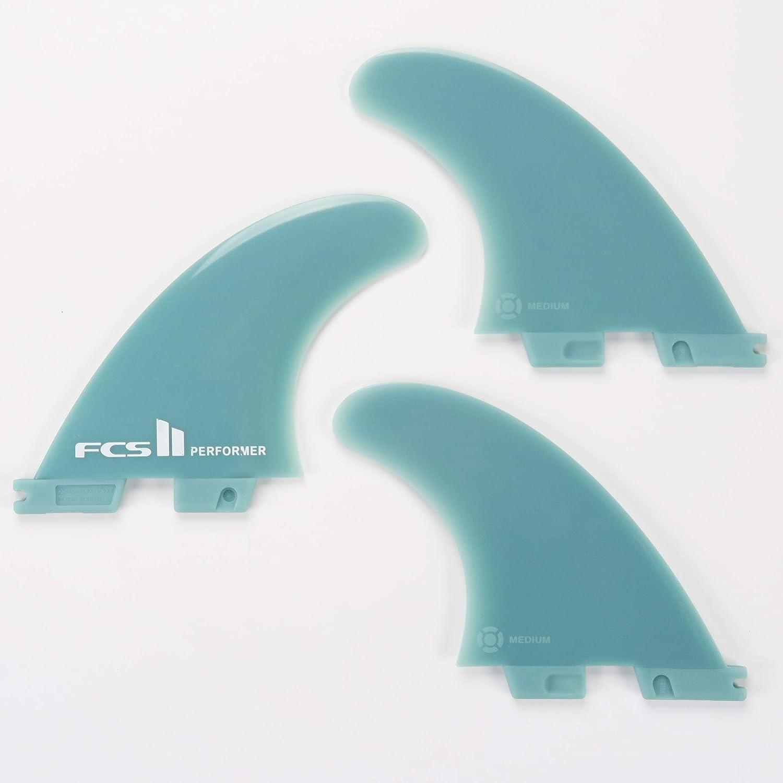 FCS Blue//Black AQUBONA FCS II Medium Performer//Reactor Fiberglass Reinforced Polymer Surfboard Fins Thruster 3 Fins