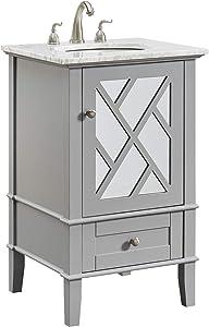 Elegant Decor 21 in. Single Bathroom Vanity Set in Grey