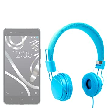 DURAGADGET Auriculares De Diadema Color Azul para Smartphone BQ ...