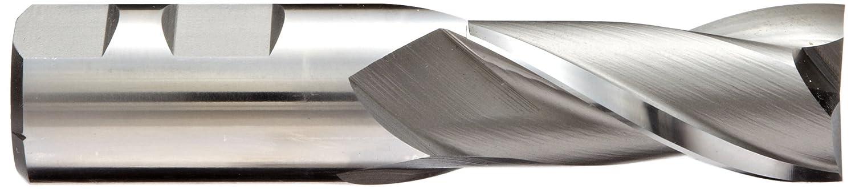 30 Deg Helix Square Nose End Mill Bright 12.5mm Cutting Diameter 2 Flutes 3.125 Overall Length Finish YG-1 E1482 High Speed Steel Weldon Shank 0.5 Shank Diameter Metric HSS Uncoated