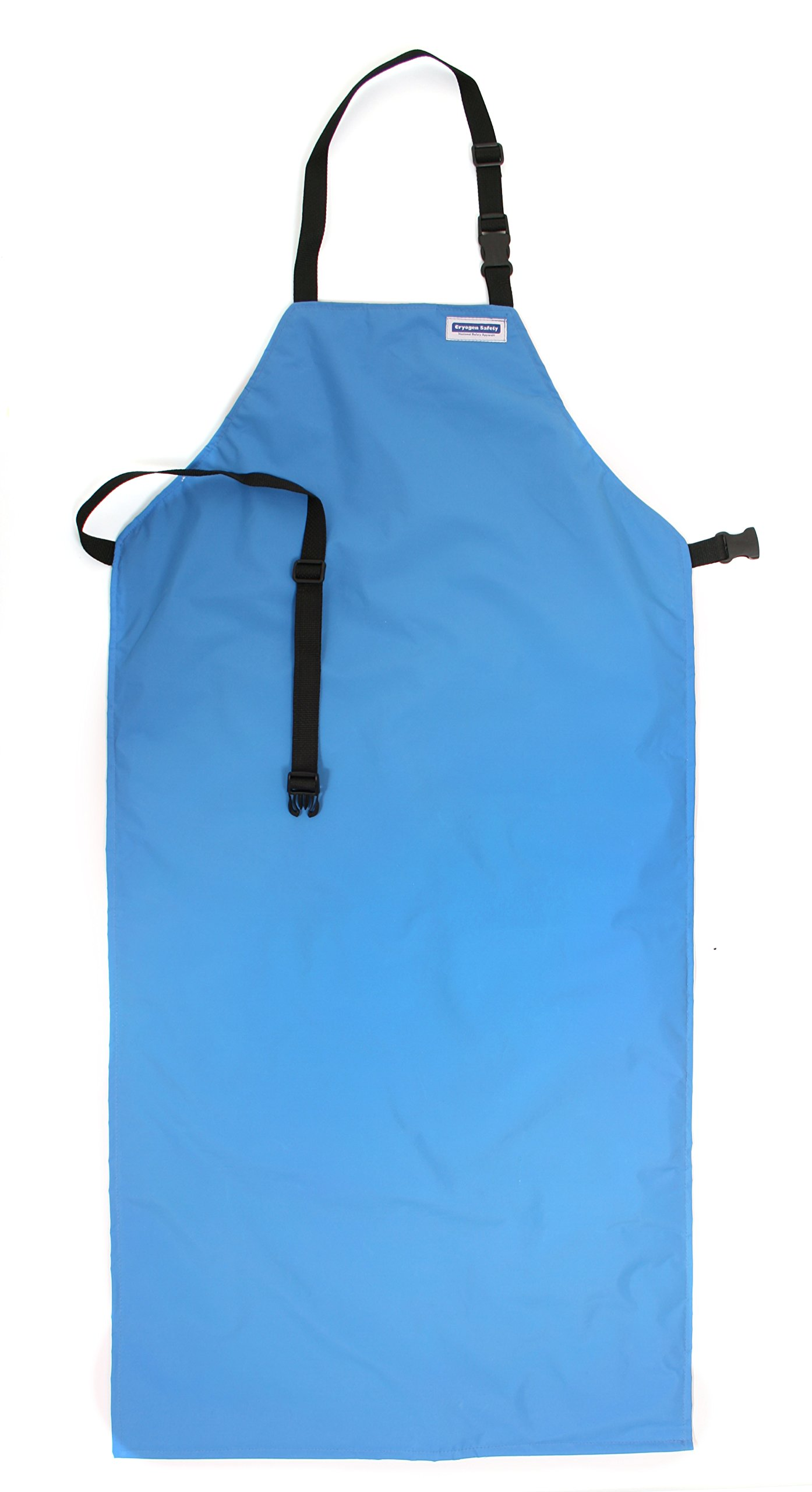 National Safety Apparel A02CRC24X48 Nylon Taslan and PTFE Waterproof Cryogenic Safety Bib Apron, 48'' Length x 24'' Width, Blue by National Safety Apparel Inc