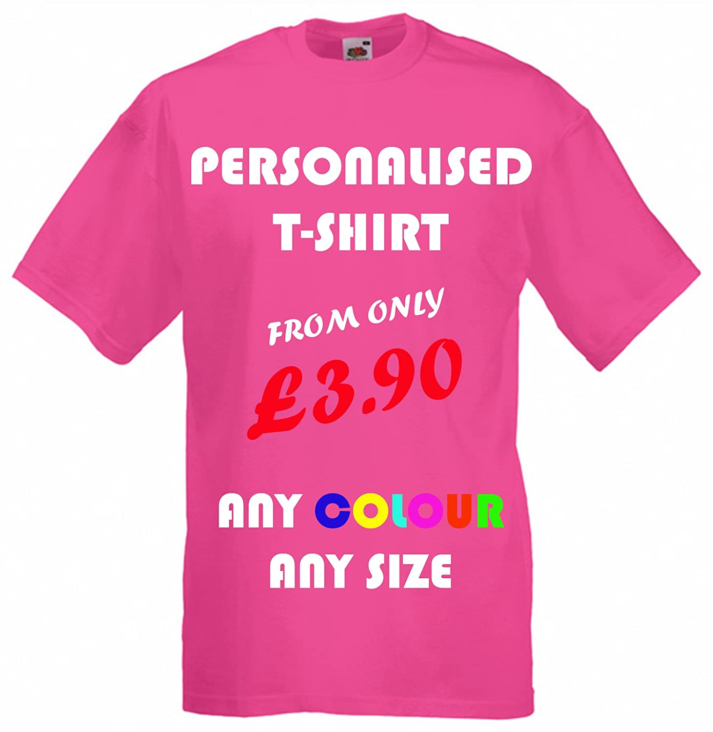 1bc6aa65 Custom Printed T-shirts (FRONT & BACK), Personalised By You! Great Gift!:  Amazon.co.uk: Clothing