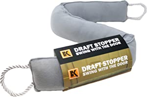 Door Draft Stopper - Draft Stopper Blocker - Under Door Weather Insulator Seal 37 inches - Sticks and Swings with the Door, Never Bend, 2 Lbs Heavy and Effective Under Door Draft Stopper Energy Saver