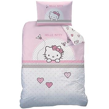 Hello Kitty Kite Bettwäsche Set Baumwolle Rosa 100 X 135 Cm 2