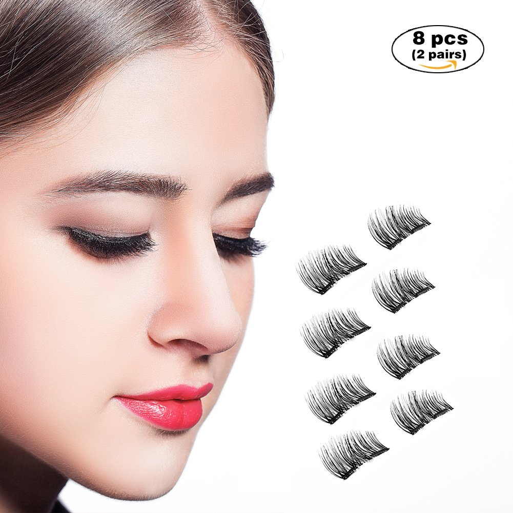 Amazon Dn Magnetic Eyelashes Prime 8 X Double Magnet False