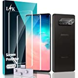 [2+3 Pack] LϟK Compatible for Samsung Galaxy S10, 2 Pack Flexible TPU Screen Protector and 3 Pack Camera Lens Protector, New