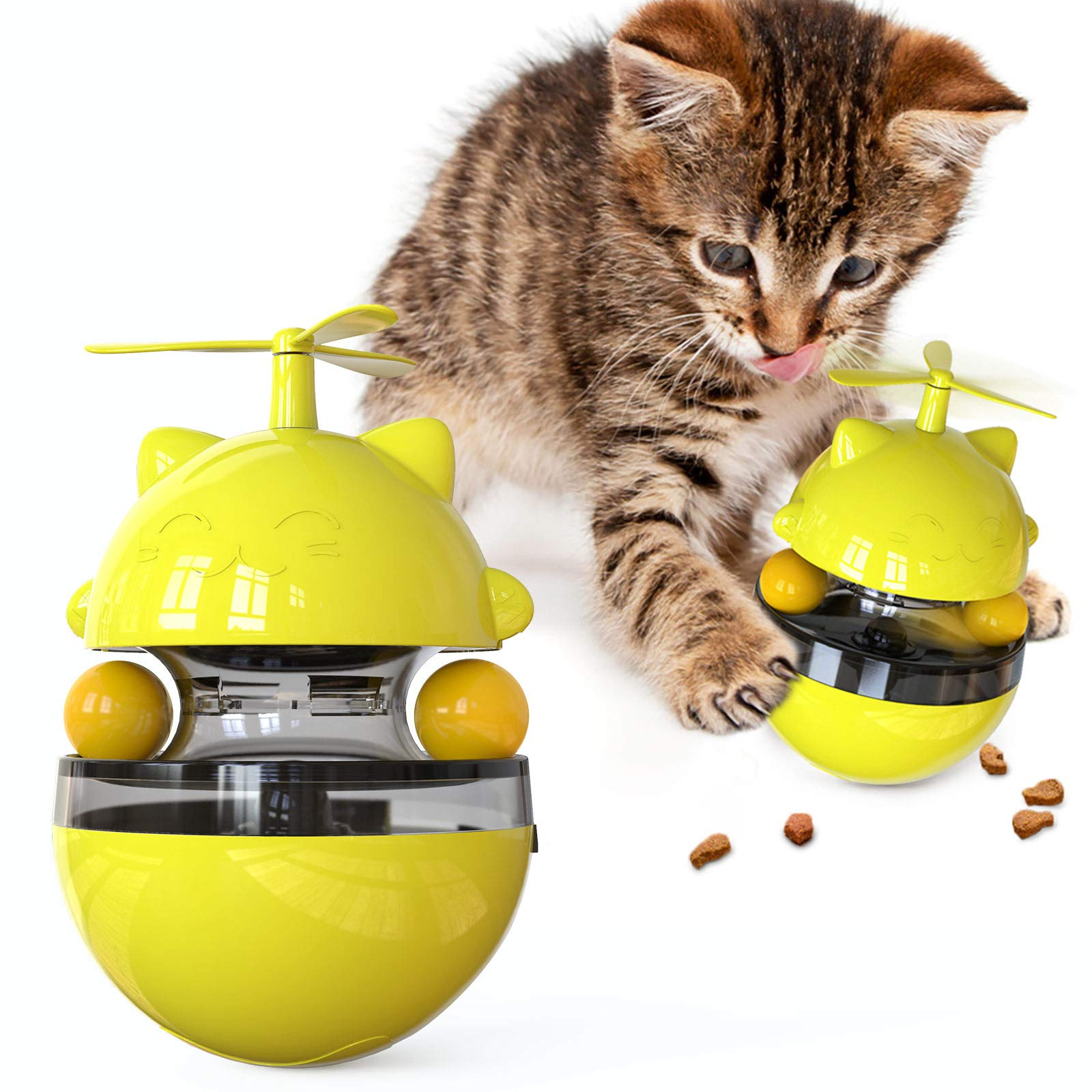 Cat Turntable Toys Kitten Toy Kitty Supplies Interactive Spinning Track Ball for