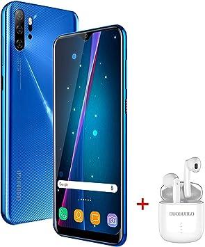 Moviles Libres Baratos 4G, 6.53 Pulgadas 3GB RAM 32GB ROM / 128GB Smartphone Libre Android 9.0 Dual SIM teléfonos móviles gratuitos, 13mp 4500mAh ,Quad Core Moviles Baratos y Buenos (Azul): Amazon.es: Electrónica