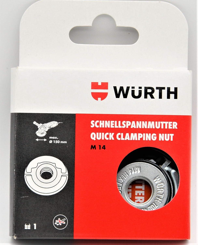Würth Tuerca rápida Quick para todos los Amoladora Angular Con Rosca M 14, permite tensar y Resolver: Amazon.es: Bricolaje y herramientas