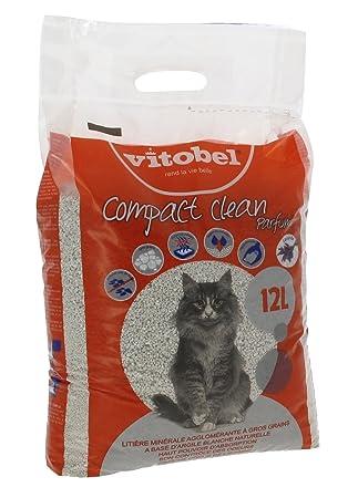 VITAKRAFT Arena de Barro Compact Clean aromático para Gato 12 L