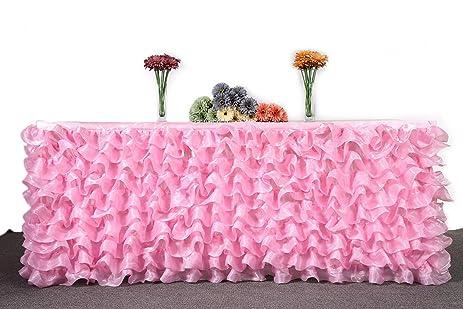 Amazon hbb kids handmade deluxe elegant tulle table skirt for hbb kids handmade deluxe elegant tulle table skirt for party decoration events meetings junglespirit Gallery