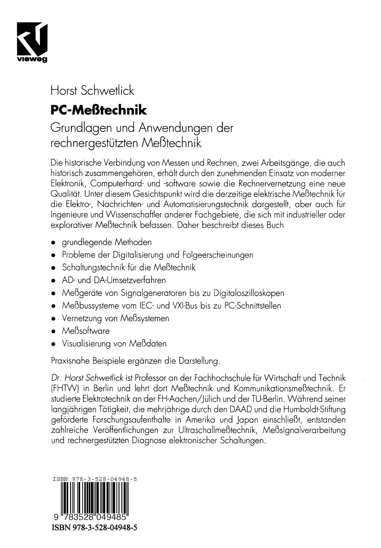 PC-Meßtechnik: Grundlagen und Anwendungen der rechnergestützten ...