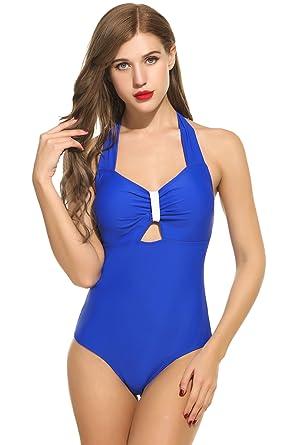 Avidlove Femme Maillot de Bain 1 Pièce Bretelles Licou Bikini de plage Tankini Push up Dos Nu La Sortie Authentique CHVzPn72k