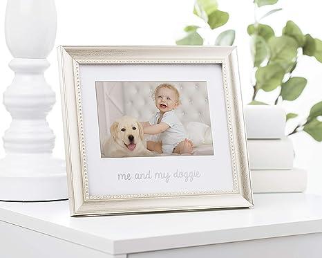 Lil Peach Me and My Doggie Keepsake Frame Silver