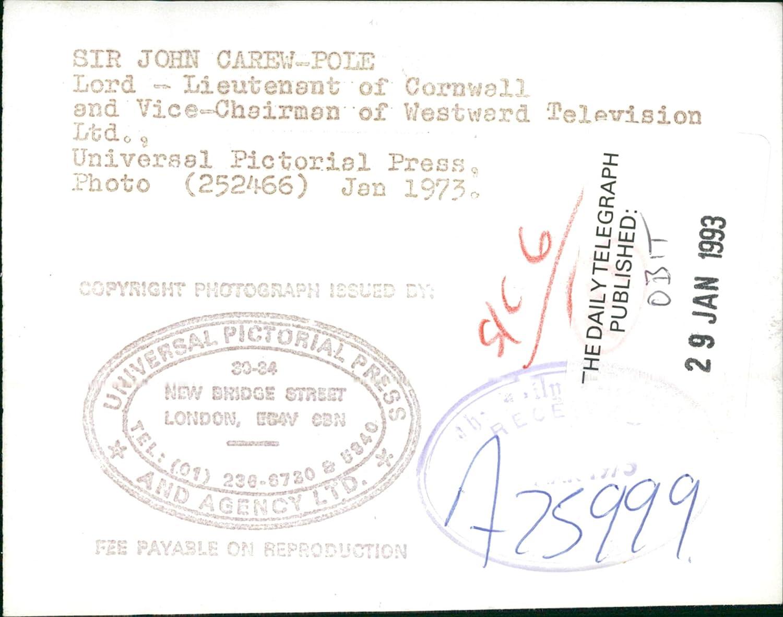 Amazon com: Vintage photo of Sir John Carew Pole, 12th