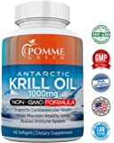 Krill Oil by Pomme Green Nutrition, 1000 mg, Anti-Inflammatory, Toxin Free, Easily Absorbed, FDA, EPA, DHA, GMP Certified, Made in the USA, 60 Capsules
