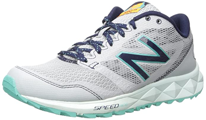 New Balance Women's 590 Trail Running Shoe, Grey/Navy, 8 B US