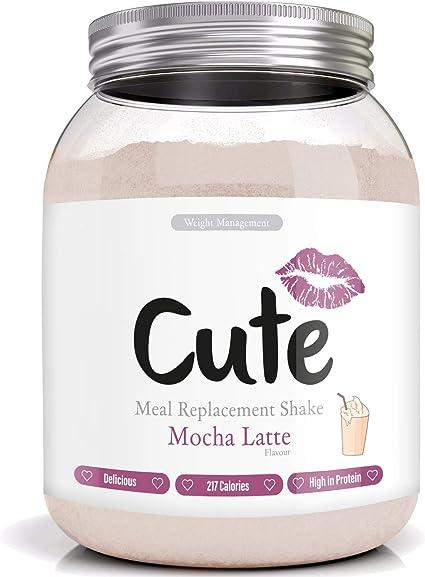 Cute Nutrition Batido Sustitutivo de Comida Sabor Moca Latte para el Control de la Pérdida de Peso en Polvo Bebida Dietética Para Mujer Bote de 500g: Amazon.es: Salud y cuidado personal
