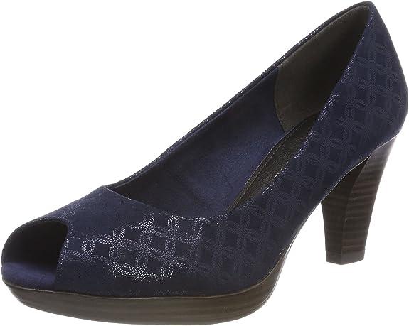 TALLA 39 EU. MARCO TOZZI 29302, Zapatos de tacón con Punta Abierta para Mujer