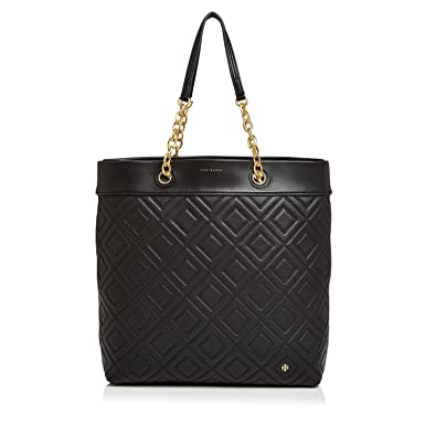 6c21699b546 Amazon.com  Tory Burch Fleming Tote (Black)  Clothing