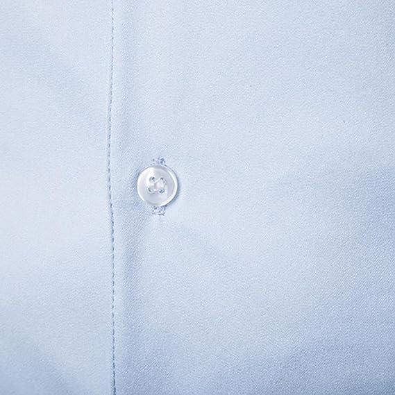 Resplend Camisa de Vestir de Manga Larga de algodón de Moda Casual de algodón de Manga Larga para Hombre: Amazon.es: Ropa y accesorios