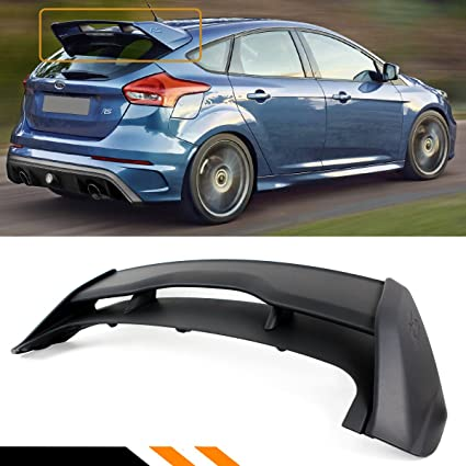 Cuztom Tuning Fits For 2012 2018 Ford Focus St Se Hatchback Rs Style Rear Roof Spoiler Wing