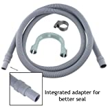 SPARES2GO Universal Drain Hose Washing Machine Extension Pipe (2.5M, 18mm / 22mm)