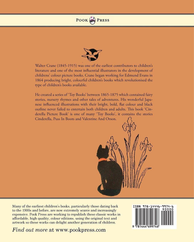 Colour childrens literature - Cinderella Picture Book Containing Cinderella Puss In Boots Valentine And Orson The Original Coloured Designs By Walter Crane Amazon Co Uk Walter