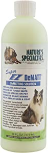 Nature's Specialties Super EZ Dematt Dog Conditioner for Pets, Puppies Kittens, Skin Repair Dilutes 12:1 Made in USA Non-Toxic